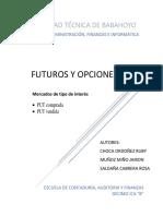 Preguntas Futuros y Opciones