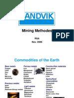 Mining Methodes