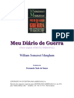 William Somerset Maugham Meu Diário de Guerra