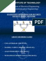 security over adhoc network