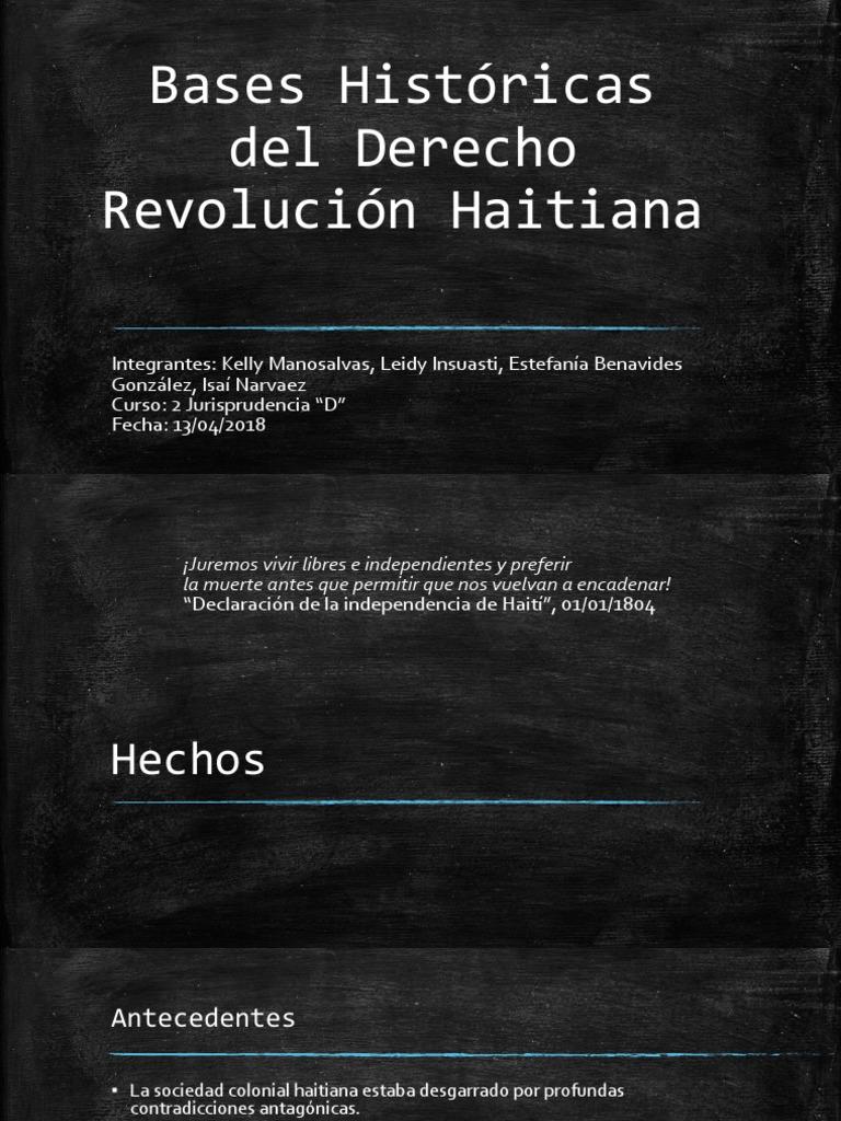 Como Es Vivir En Haiti bases históricas del derecho expo rev haiti