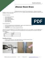 WindSensor Boom Brace 4343 Instructions