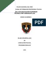 Silabo Legislacion Policial Honestidad 2018