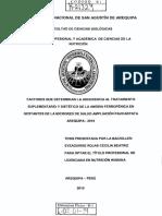 Factores Que Determinan La Adherencia Al Tratamiento- Arequipa 2015