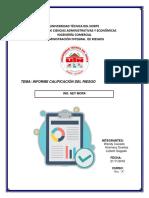 Informe Calificación Del Riesgo