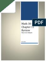 Ch.11 Formulas