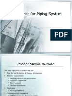 Sour Service for Piping System