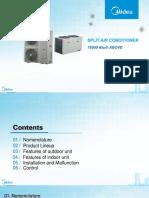 Split type air conditioner