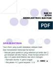 BAB 7 Atom Berelektron Banyak