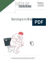 Listadeexercicios Sociologia Sociologia No Brasil 14-10-2016