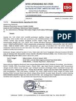 Bimtek Upgrading Lab. ISO 17025