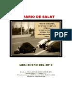 Horarios de Salats ENERO 2019 Ecuador