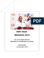 President Yoweri Museveni New Year Address 2019