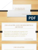 Job Analysis and Documentation