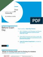 AP 2018 Answer Sheet Presentation