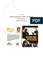 Marketing Research Theory and Concepts