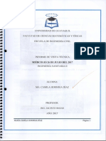 Informe de Visita Técnica ING. Sanitaria II - Profesor