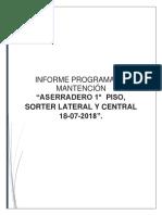 Informe Mantencion 18-07-2018