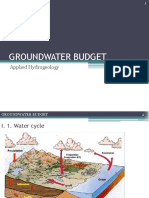 Groundwater Budget