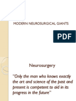 Modern Neurosurgical Giants