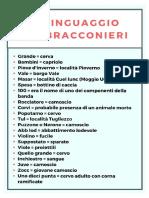 Il linguaggio dei bracconieri