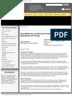 Citrix MetaFrame and Microsoft Terminal Server Performance Optimization and