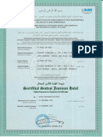 Sertifikat Sistem Jaminan Halal