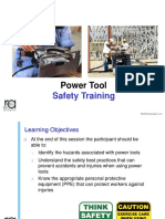 Power Tool Safety Training Module 30JAN2018