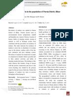 Prevalence of malaria in the population of Purnia Distrit, Bihar.pdf