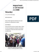 6 Most Important Elements of Social Structure (508 Words)