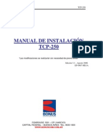 Bonus TCP-250 Manual de Instalacion Ed.3.1