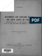 Documents Sur Certains Waqfs