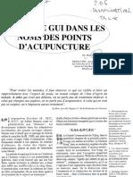Le Terme Gui Dans Le Noms de Points d Acupuncture