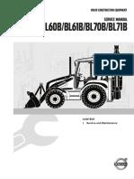Service Manual Backhoe Loader B Series Service and Maintenance