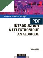 Tahar Neffati-Introduction à l'Électronique Analogique _ Cours Et Exercices Corrigés (1)