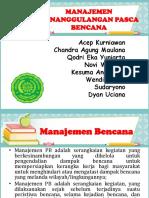 Manajemen Penanggulangan Pasca Bencana