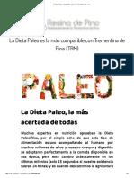 Dieta Paleo Compatible Con La Trementina de Pino