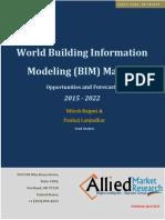 Building Information Modeling BIM Market, 2015-2022