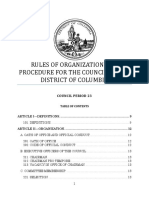 Proposed Council Period 23 Rules of Organization and Procedure