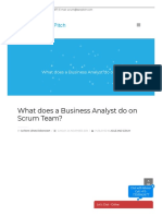 Role of Business Analyst in Scrum team