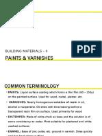 Unit 2-Paints & Varnishes