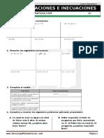 07 Ecuaciones e Inecuaciones Sexto de Primaria