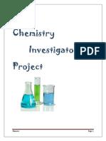 Chemistry Investigatory