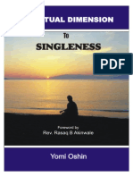 Spiritual Dimension to Singleness
