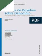 Dossier 2018 Genocidio Indígena Revista de Estudios Sobre Genocidio UNTref año 9, vol. 13 (2018)