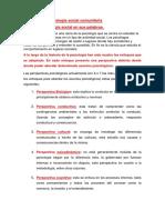 Resumen de Psicología Social Comunitaria