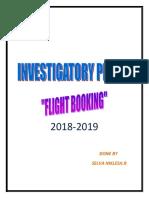 Computer investigatory project class 12 FLIGHT BOOKLING