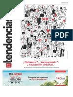 Publicación de la encuesta en el suplemento de Tendencias, Diario La Tercera