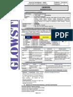 8. Glowsten, Biogranulado Msds