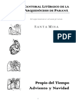 Letras Del Cantoral de Adviento y Navidad 2018